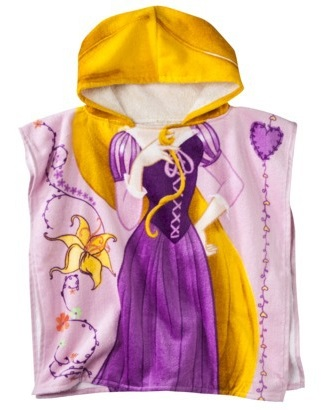 Personalized Rapunzel Hooded Bath Towels For Kids